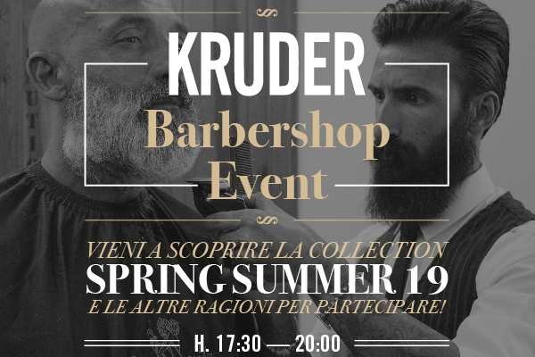 Invito KRUDER #BarberShopEvent